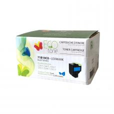 Recyclée Lexmark 71B10C0, Cyan (2.3K), Ecotone (HDRQ)