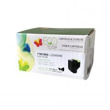 Recyclée Lexmark 71B10K0, Noir (3K), Ecotone (HDRQ)